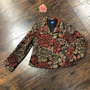 EUC Pendleton Floral Blazer sz M